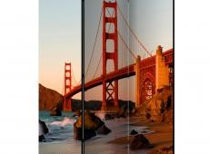 Paraván - Golden Gate Bridge - sunset, San Francisco [Room Dividers]